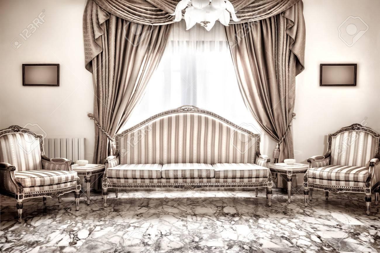 Schöne Retro-inter-Design, Luxus-Vintage-Stil Möbel, Klassische ...