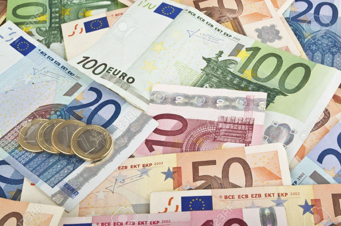 billets et monnaies en euro