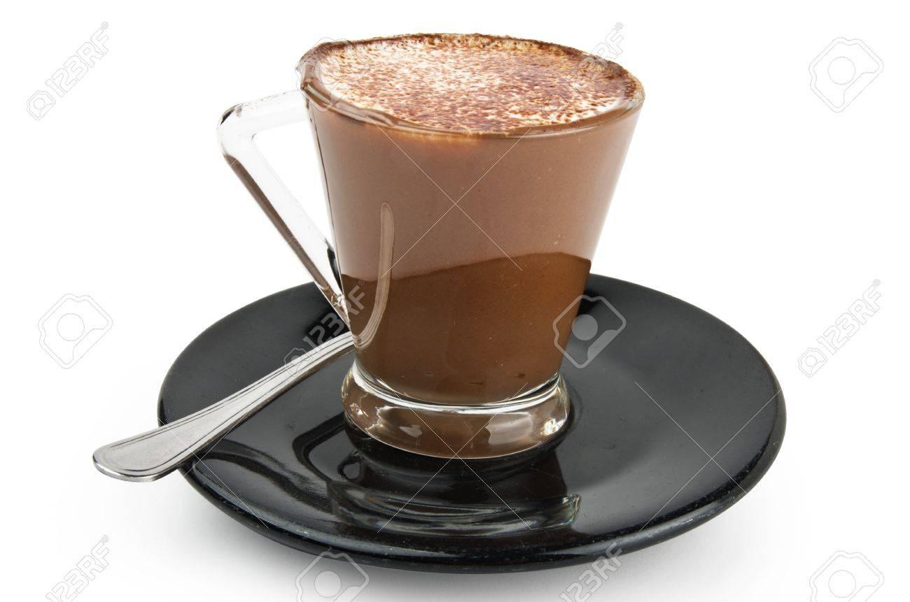 Coffee milk cream and chocolate on the black plate Stock Photo - 14601220