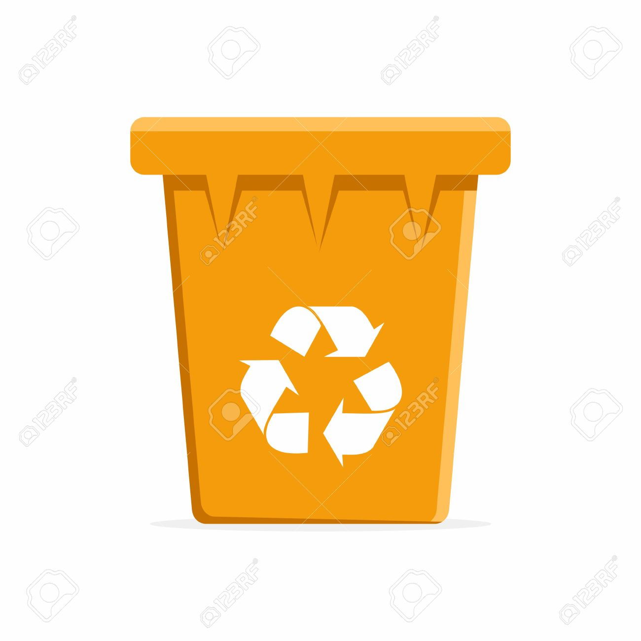 Vector Orange Recycle Bin for Trash and Garbage. Vector Illustration - 48220730