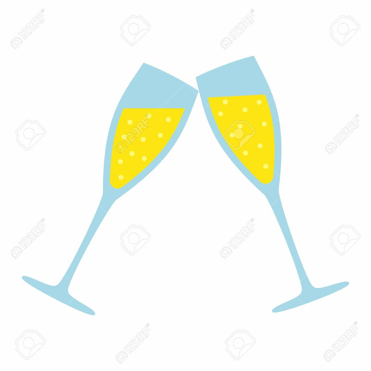 Champagne Glass isolated on white background. Wedding Illustration - 51446769