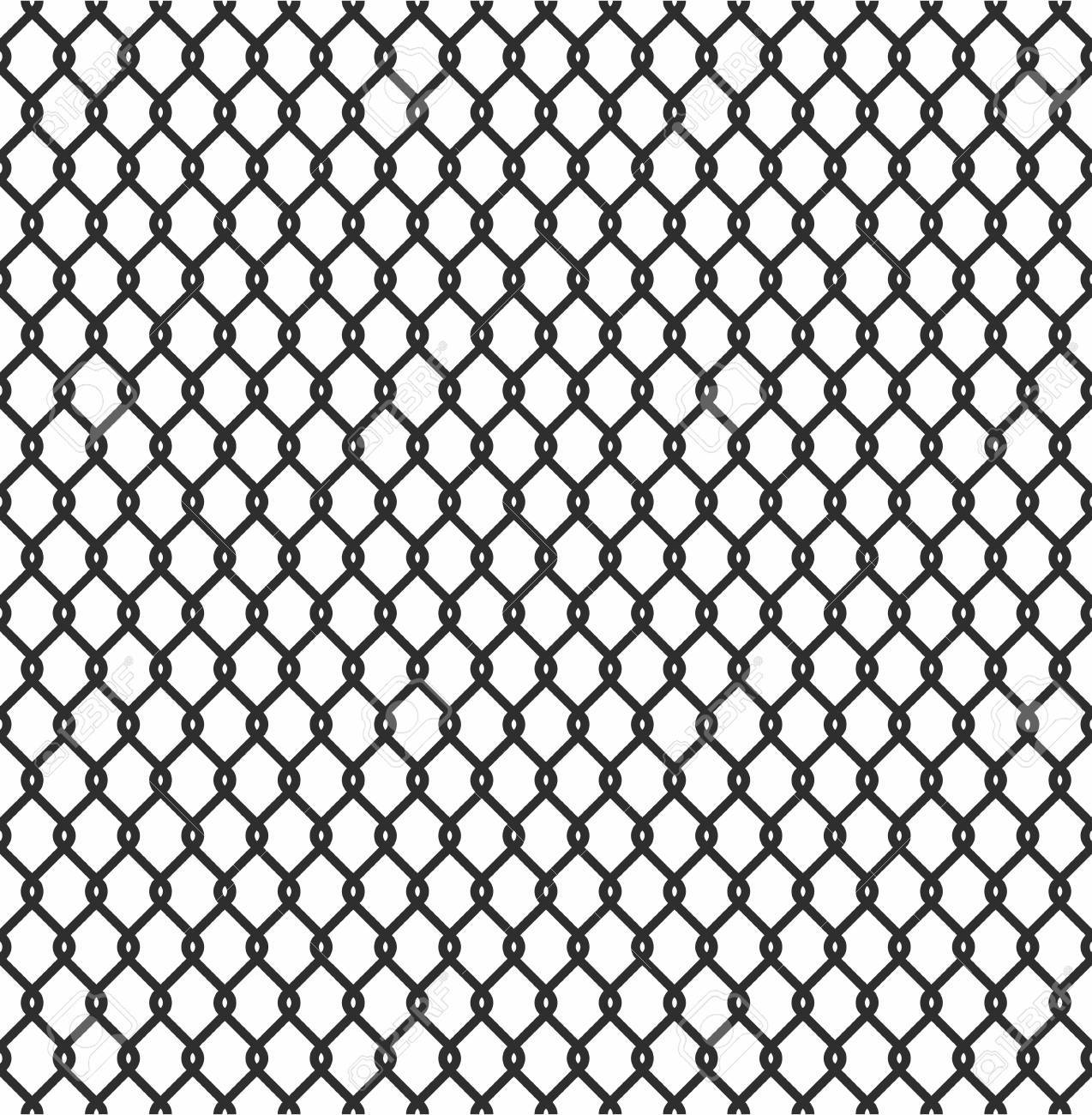 Metallic Wired Fence Seamless Pattern Isolated On White Background ...