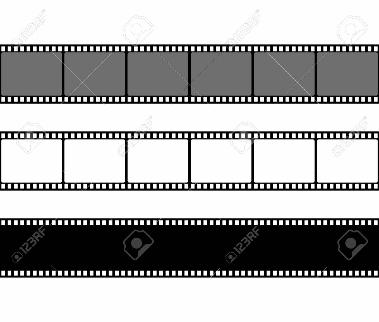 Film Strip Frame Set In Flat Style Isolated On White Background ...