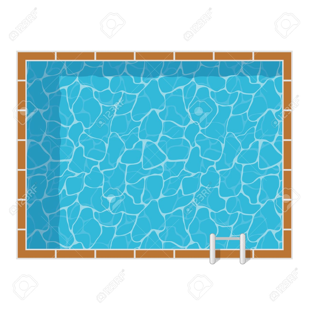 Swimming Pool Top View Set Isolated On White Background Blue Royalty Free Cliparts Vectors And Stock Illustration Image 63117776
