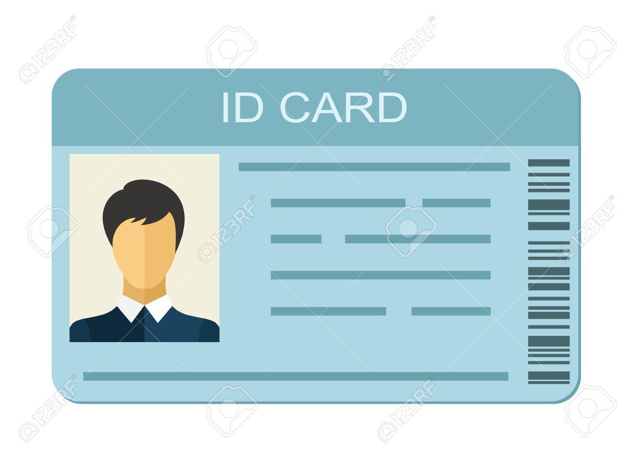 Tarjeta De Identificación De Aislados Sobre Fondo Blanco. Icono De ...