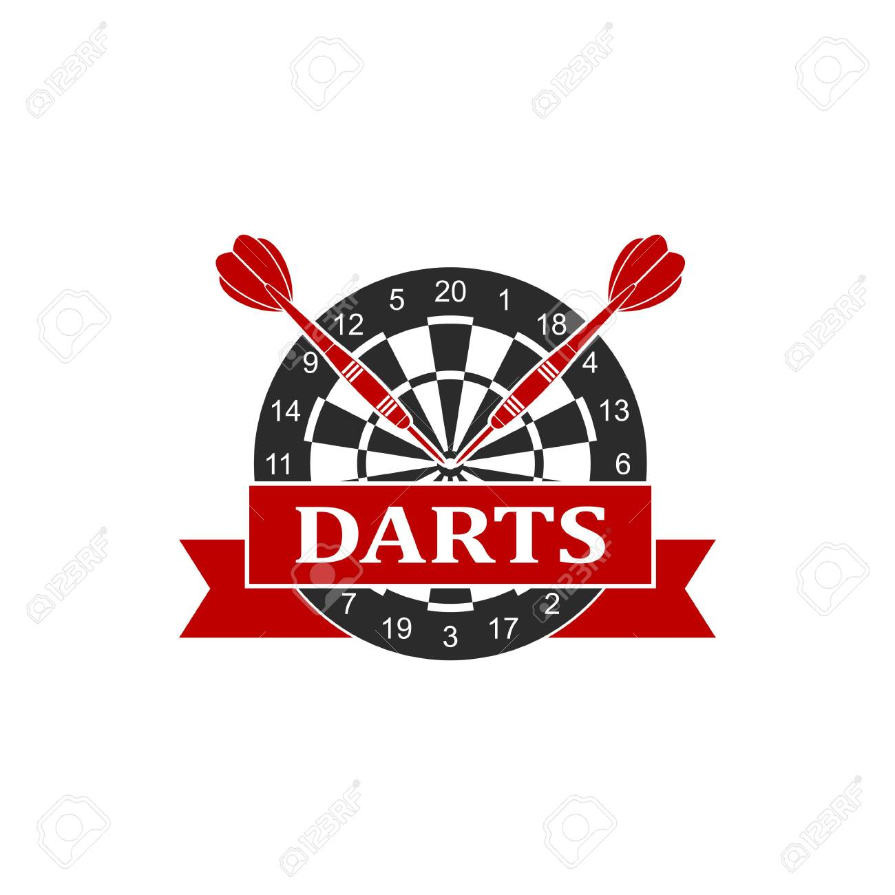 Background of darts