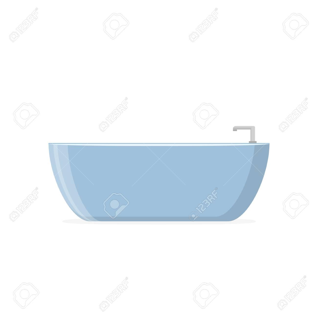 Beautiful Luxury Blue Modern Bathtub Decoration Interior In Flat ...