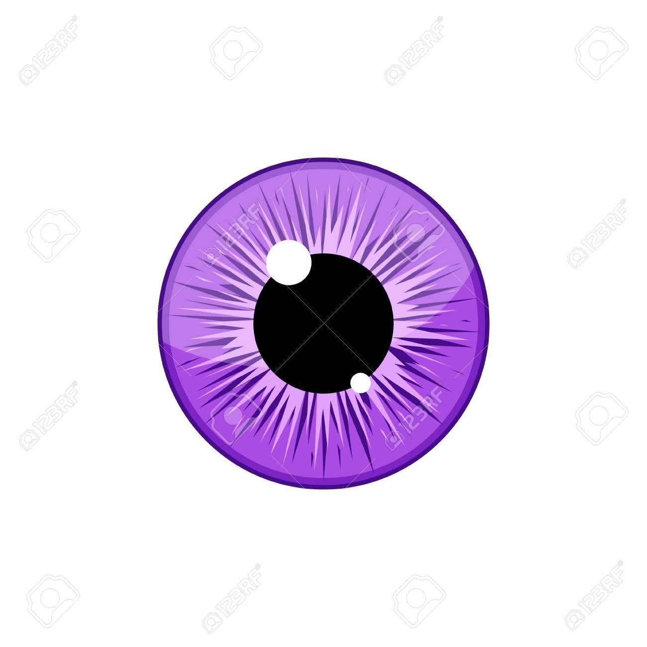 human violet eyeball iris pupil isolated on white background
