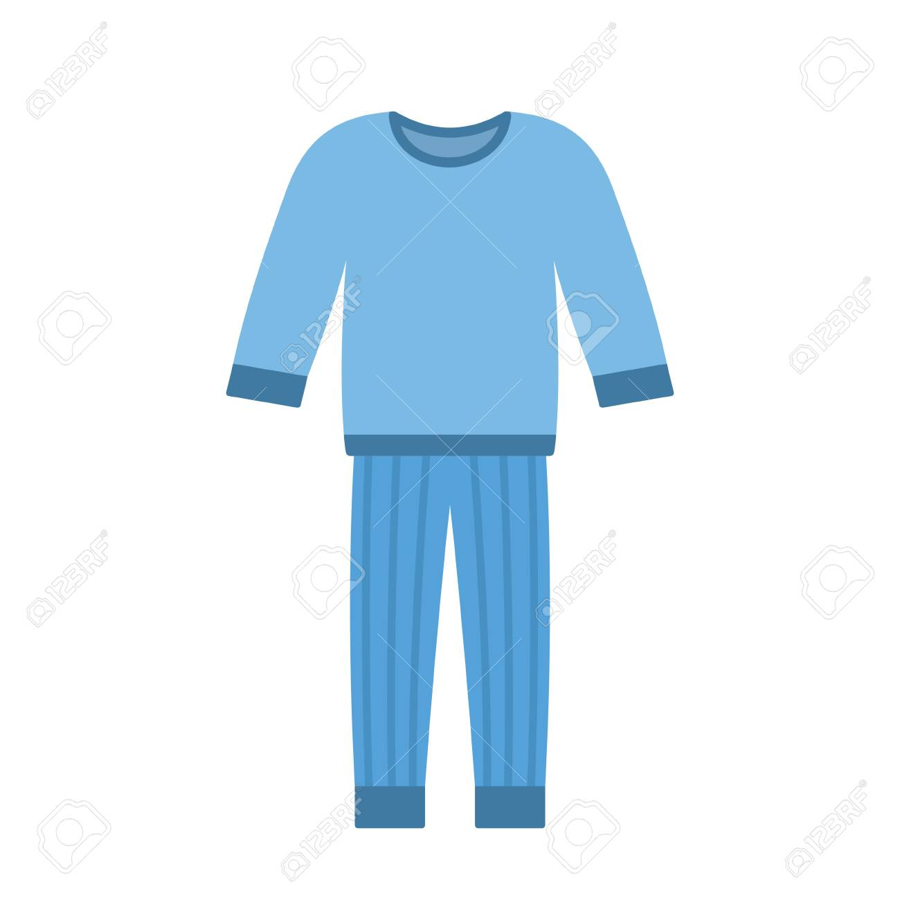 Comfort Blue Pajamas Isolated On White Background Vector Illustration Royalty Free Cliparts Vectors And Stock Illustration Image 79416343