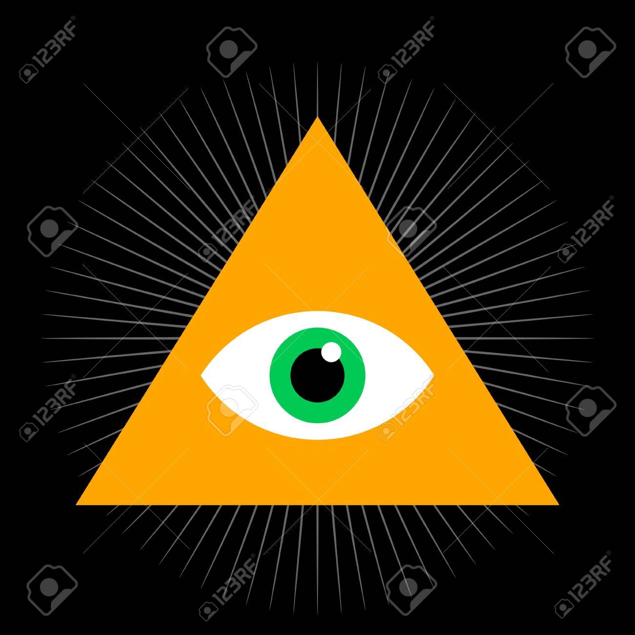 Seeing eye all seeing eye inside triangle pyramid vector all seeing eye inside triangle pyramid vector illustration masonic symbol buycottarizona Image collections