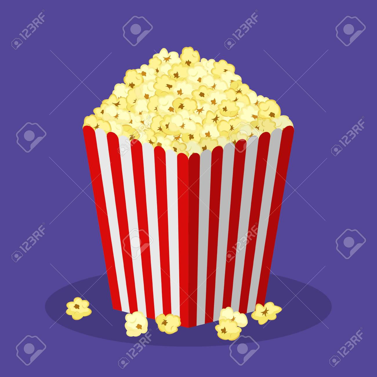 White And Red Striped Paper Popcorn Bag Isolated On Background Royalty Free Cliparts Vectors And Stock Illustration Image 91390480