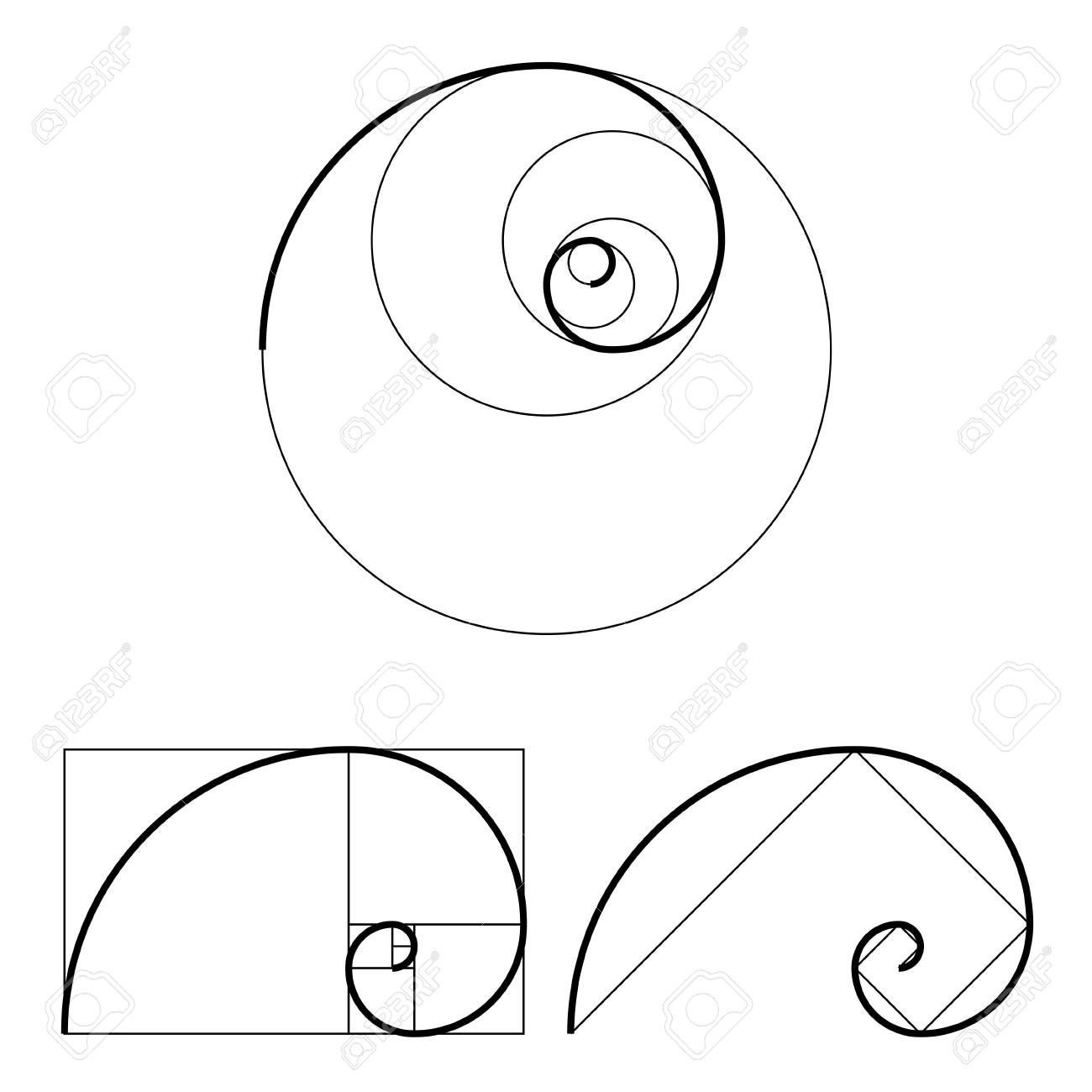 golden ratio template set vector illustration royalty free cliparts rh 123rf com golden ratio vector free golden ratio vector download