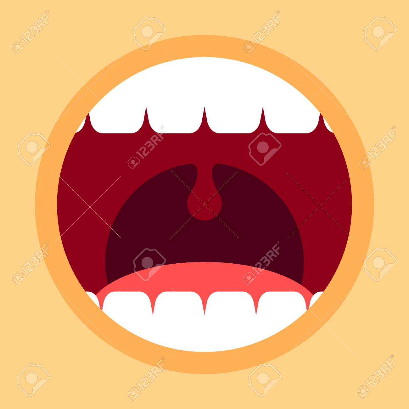 open mouth with teeth and tongue screaming mouth cartoon in rh 123rf com open mouth cartoon drawing open mouth cartoon drawing