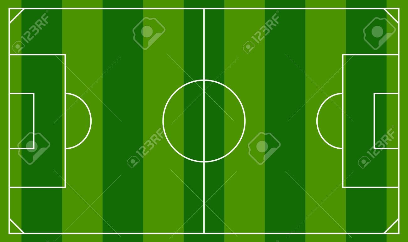 Soccer Field Or European Football Field Background Template ...