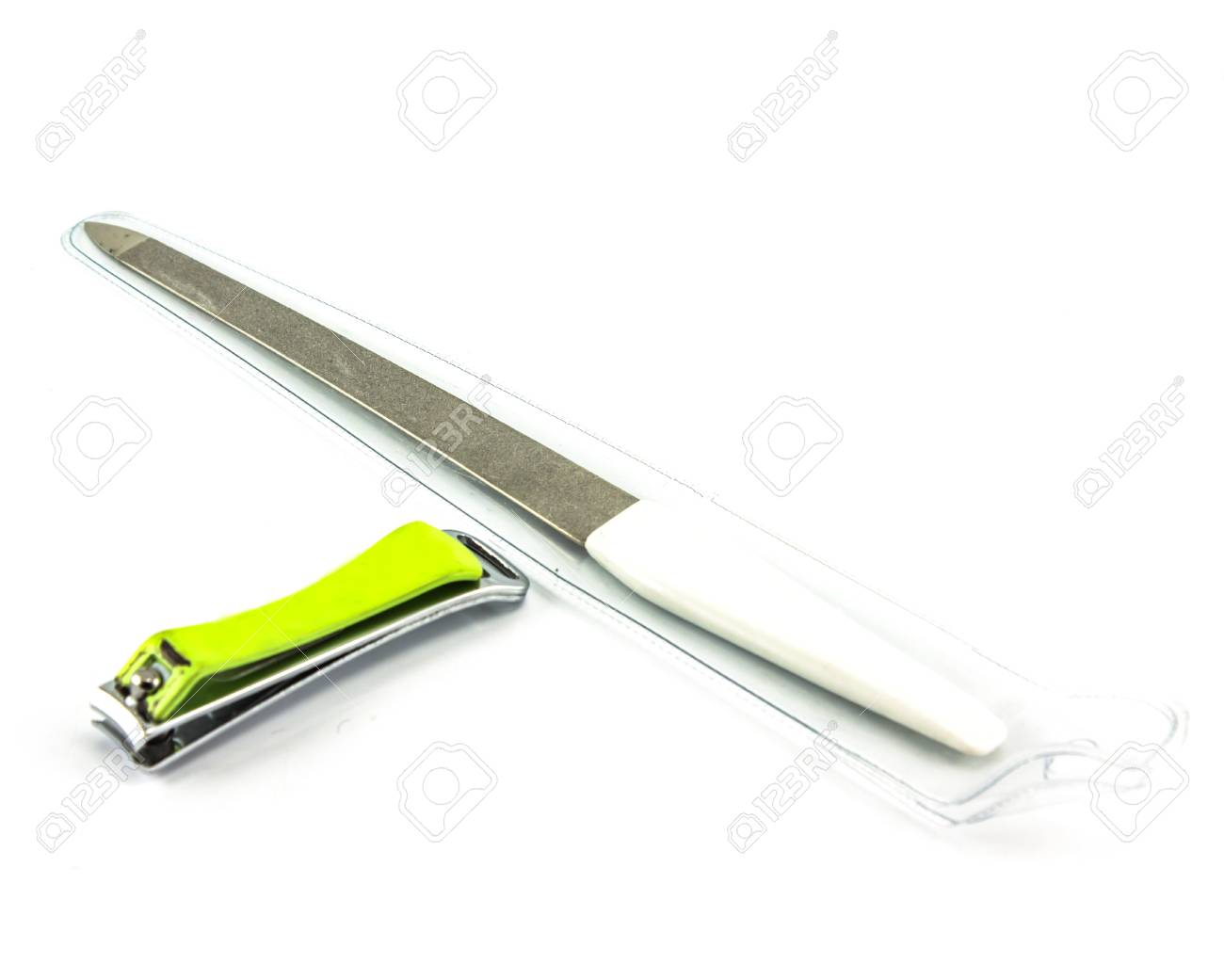 nail clippers on white background Stock Photo - 15432201