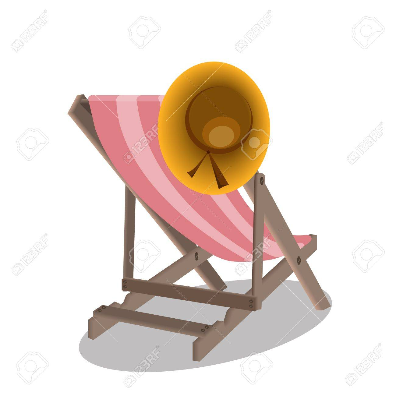 Beach chairs and hat Stock Vector - 16269278