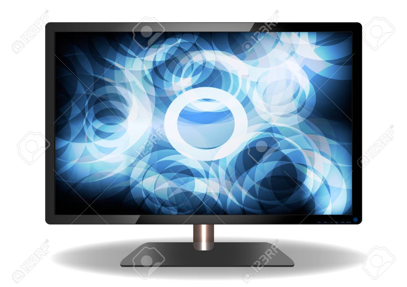 Abstract LED Television Stock Vector - 17012256