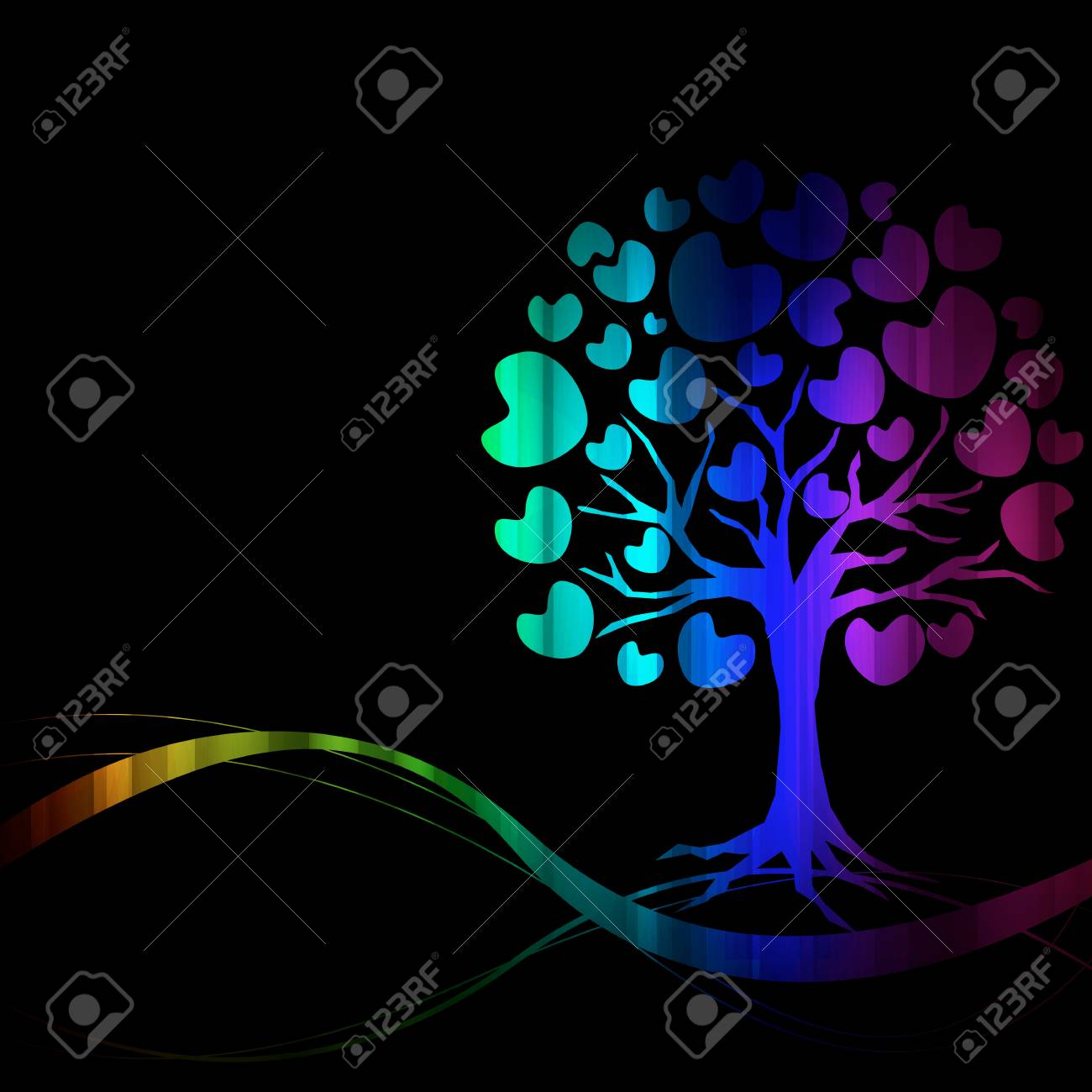 vector of abstract tree icon Stock Vector - 17090795