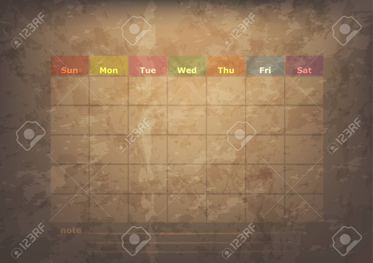 antique calendar of December Stock Vector - 17289913