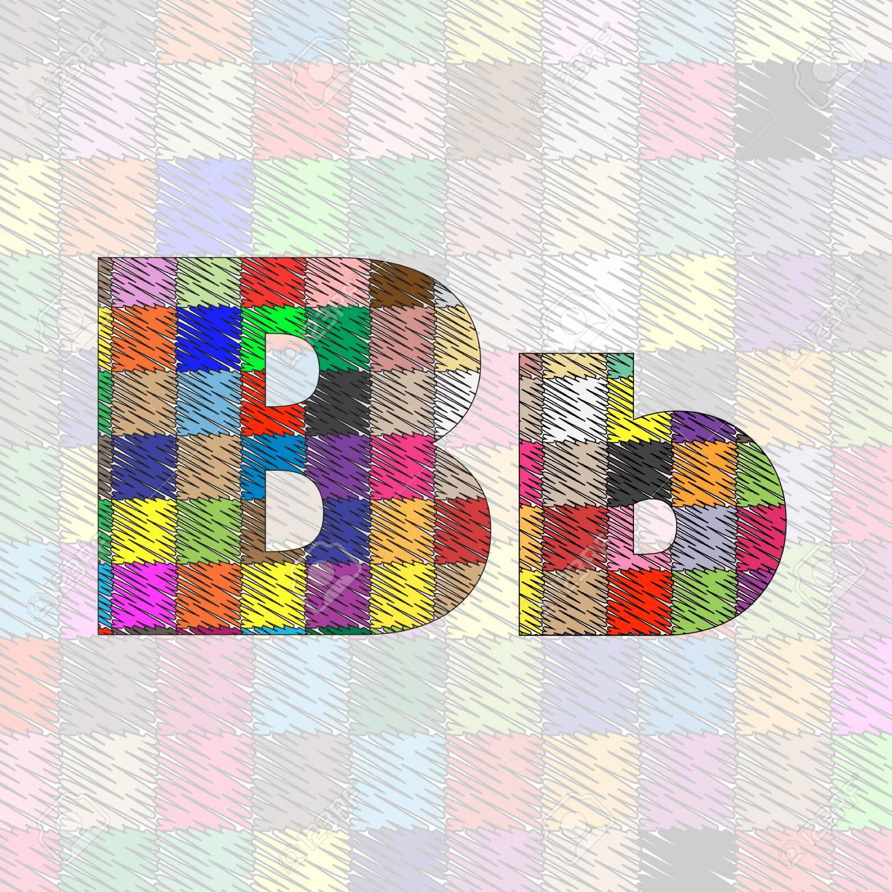 Hand drawn letter pattern ABC.  illustration Stock Vector - 17571047