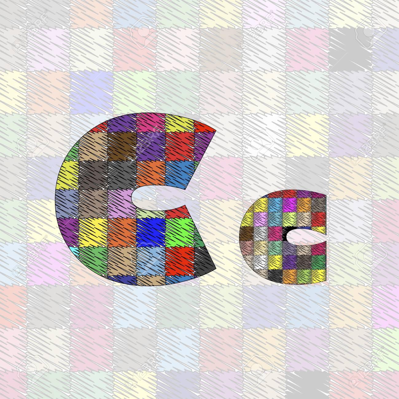 Hand drawn letter pattern ABC.  illustration Stock Vector - 17571084