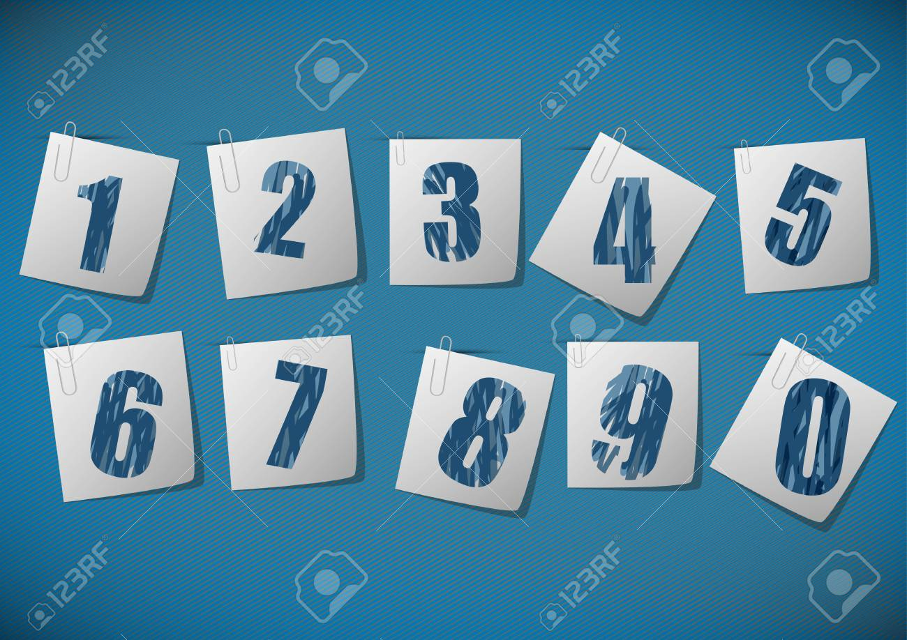 Numbers set. Vector. Stock Vector - 18398419