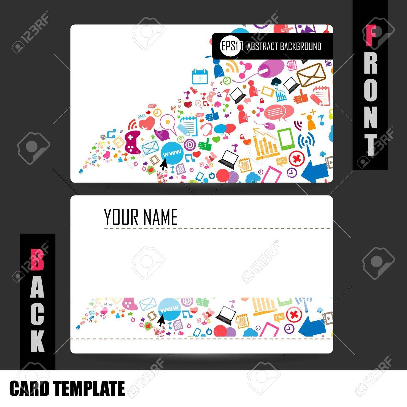 modern social network business card set royalty cliparts modern social network business card set stock vector 20946578