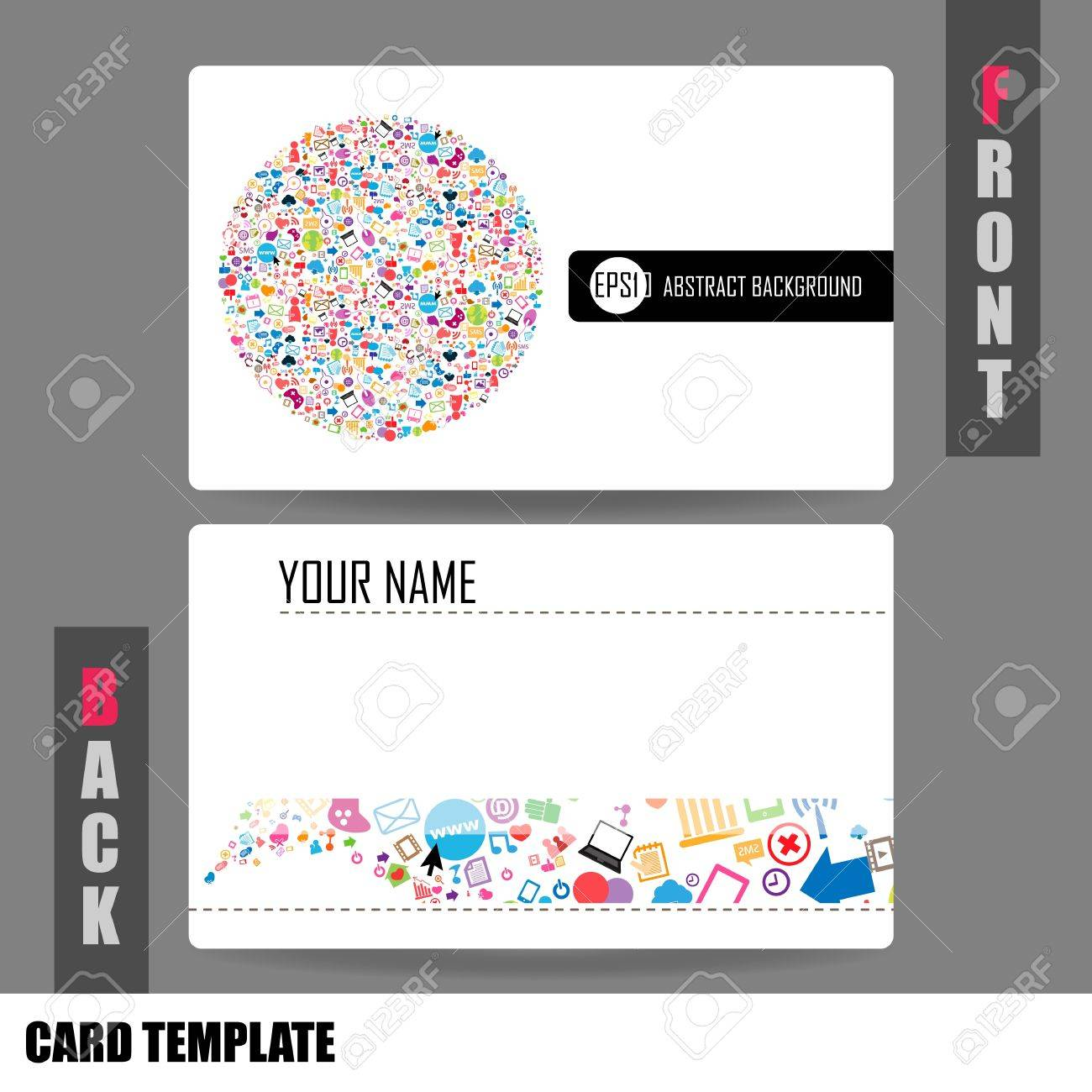modern social network business card set royalty cliparts modern social network business card set stock vector 20946579