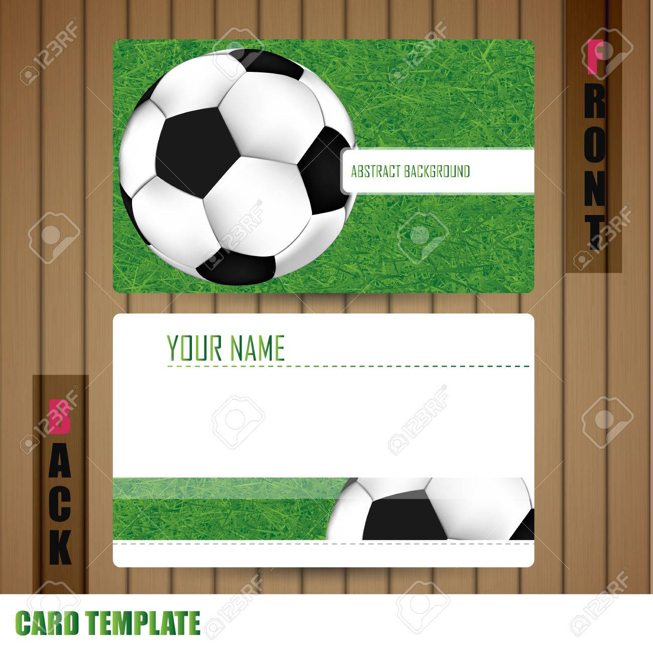 Modern Soccer Business-Card Set Stock Photo, Picture And Royalty ...