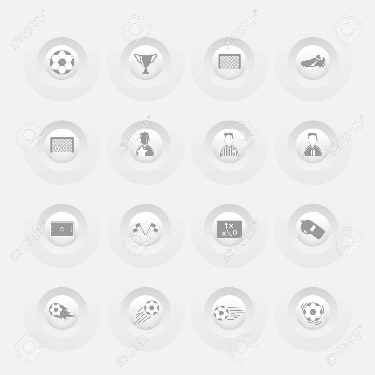 Button-Soccer Icons Web-Design-Menü-Vorlage Lizenzfrei Nutzbare ...