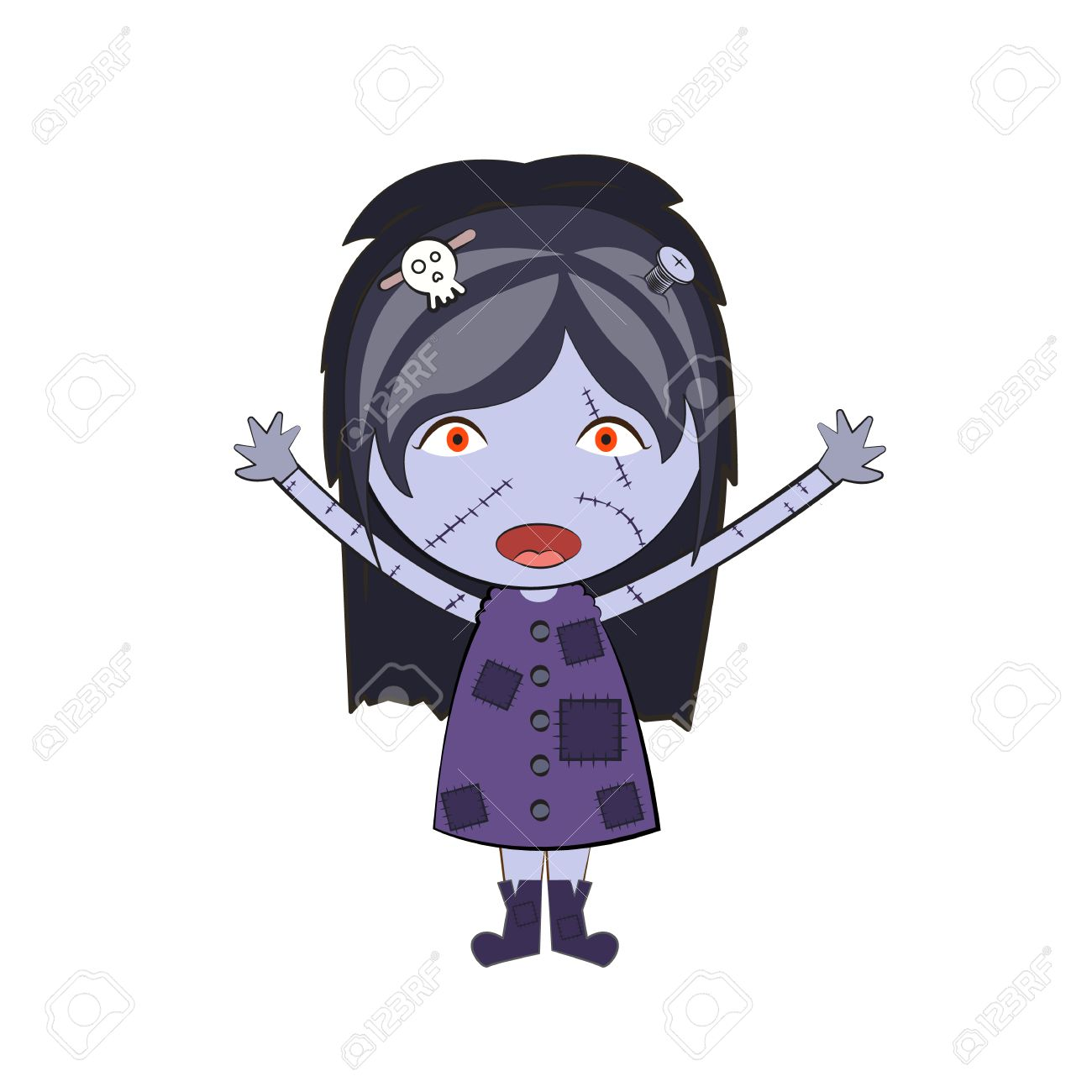Cute Happy Drawings Cartoon Happy Zombie Girl Cute