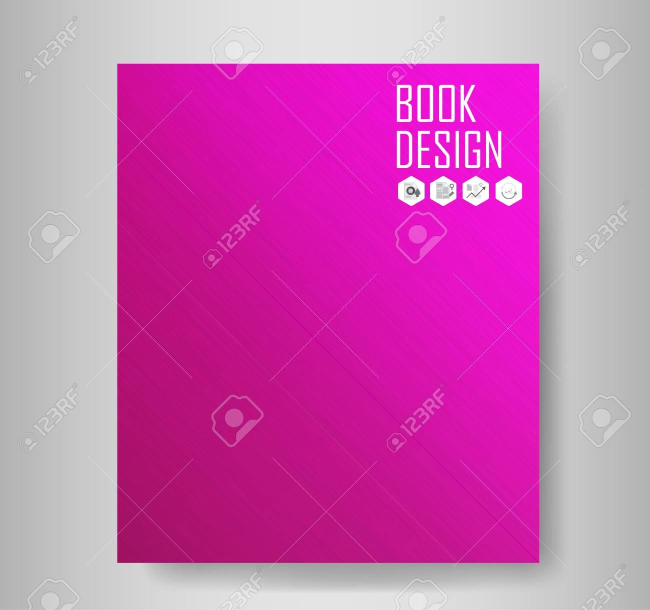 Libro De Metal De Color Púrpura. Ilustración Vectorial ...