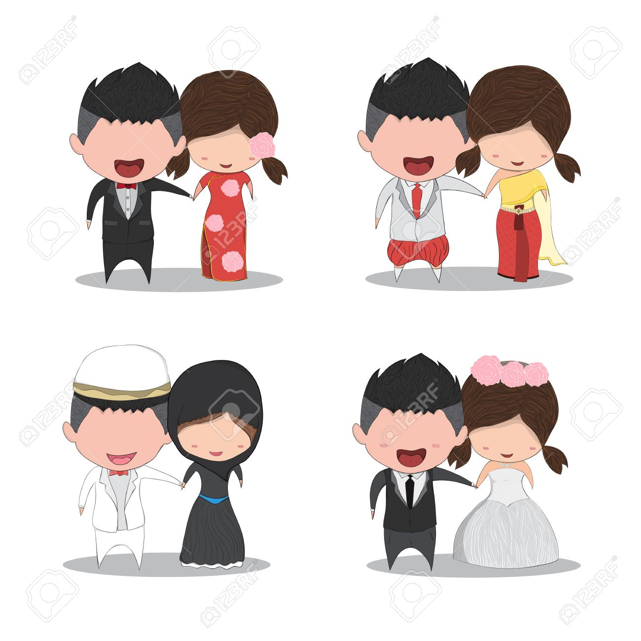 Marriage girl and boy drawing
