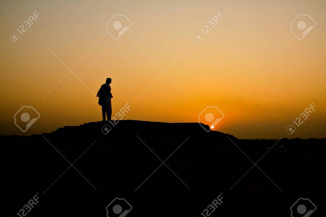 Sunset background india Stock Photo - 10821426