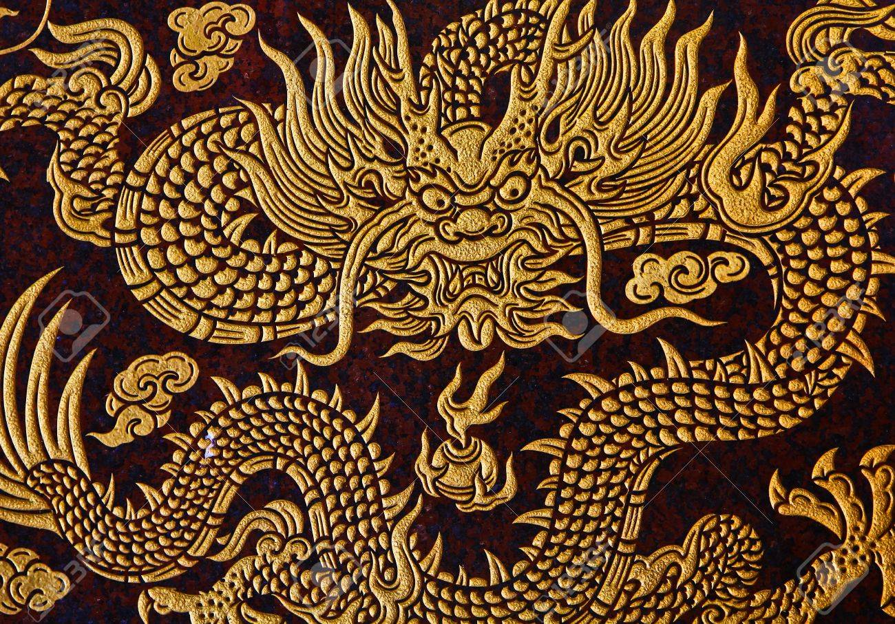 Dragon on the wall Stock Photo - 12543790