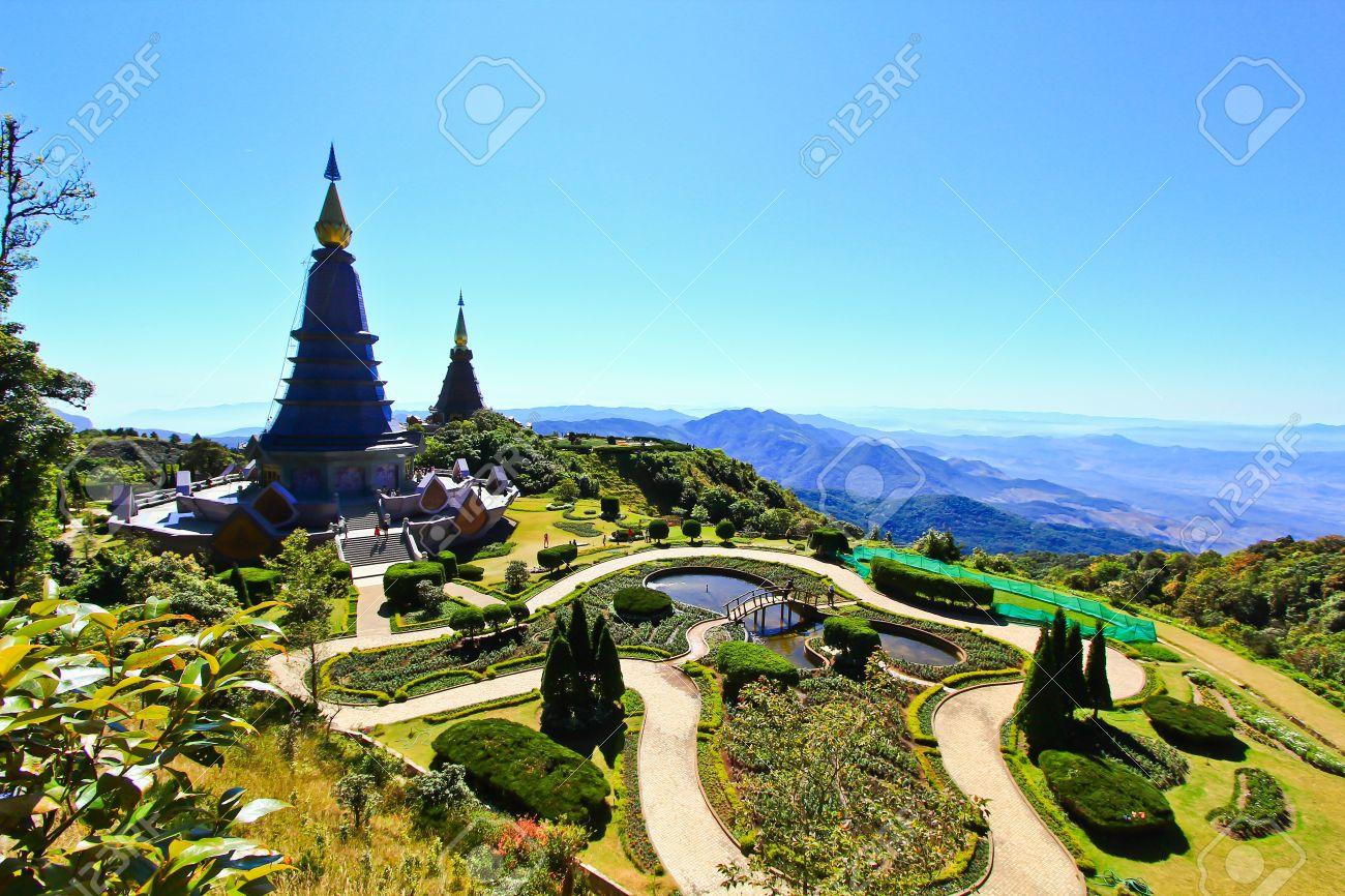 Pagoda Doi Inthanon in thailand Stock Photo - 13426511