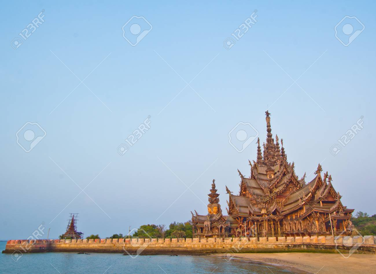 Sanctuary of Truth temple in thailand Stock Photo - 13688490
