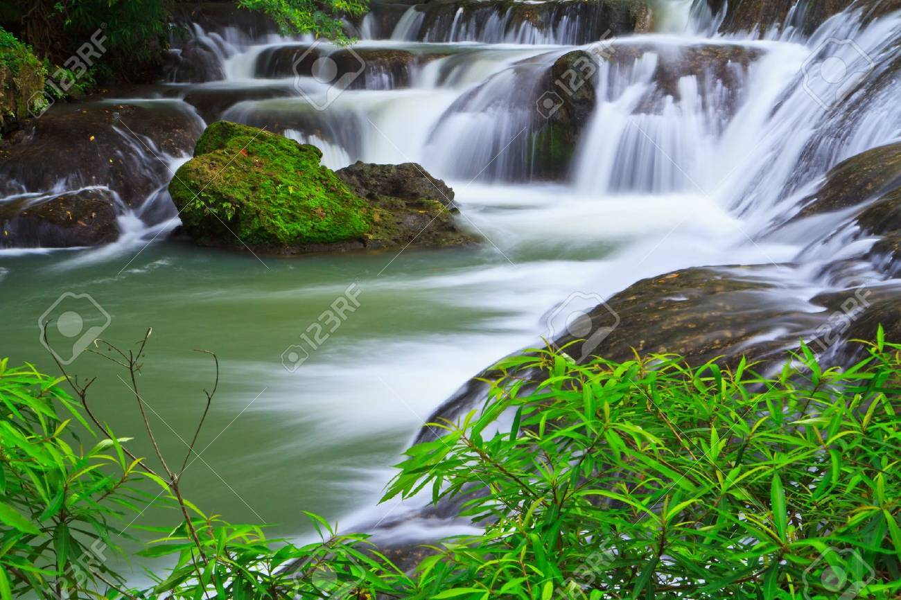 waterfall in the Forest National park thailand Stock Photo - 16323737