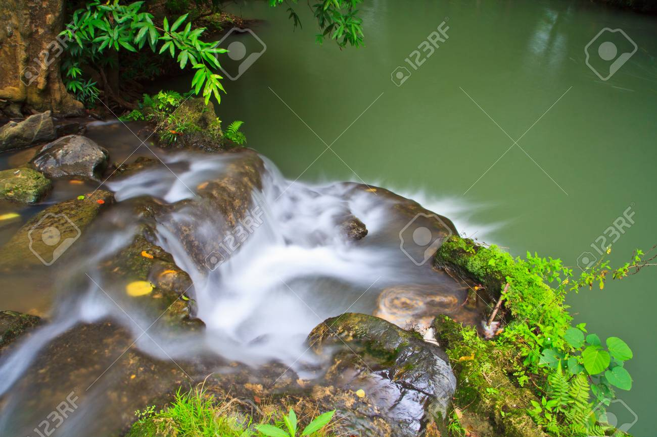 waterfall in the Forest National park thailand Stock Photo - 16321155