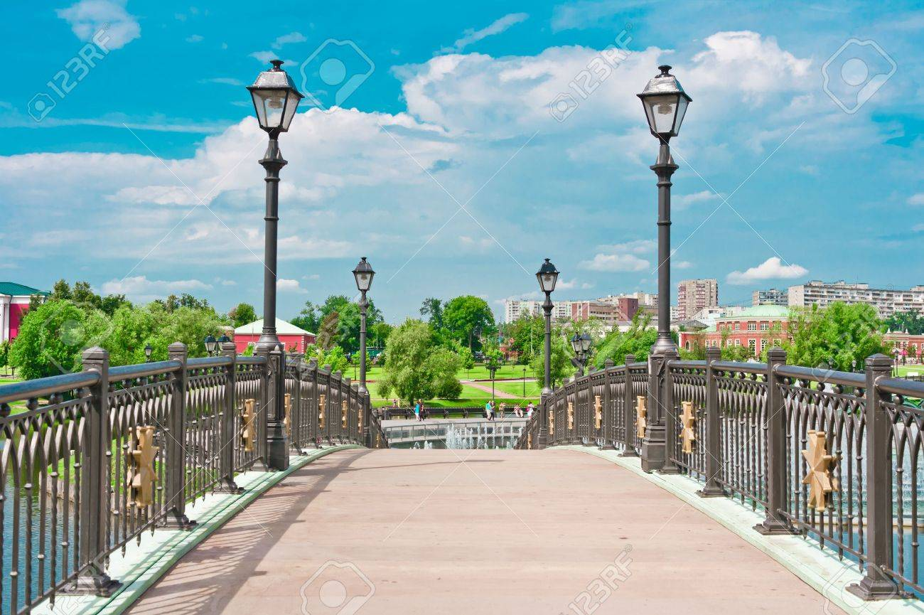 Bridge in Tsaritsino Park, Moscow, Russia, East Europe Stock Photo - 13382273