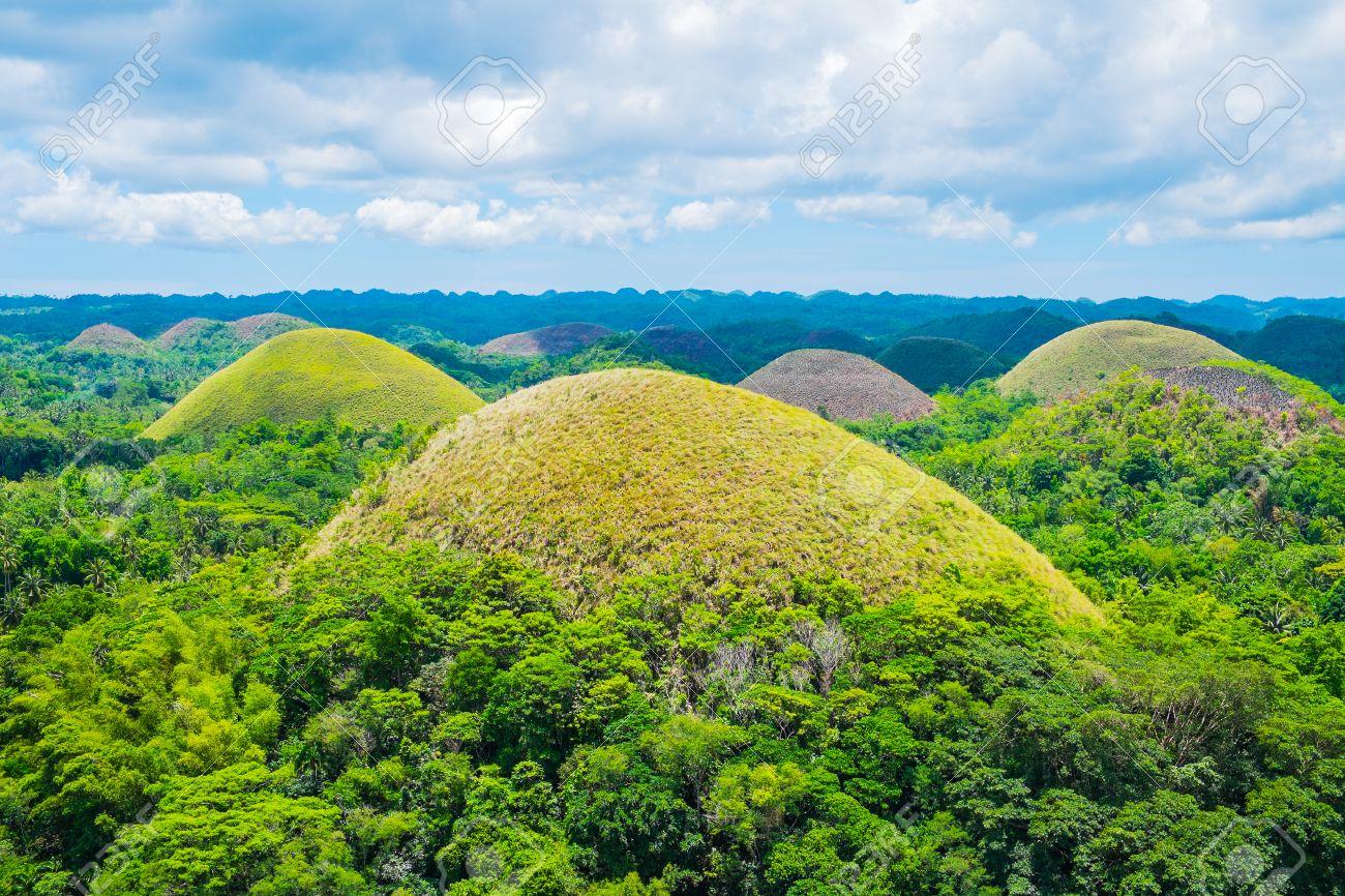 Famous Chocolate Hills Natural Landmark, Bohol Island, Philippines ...