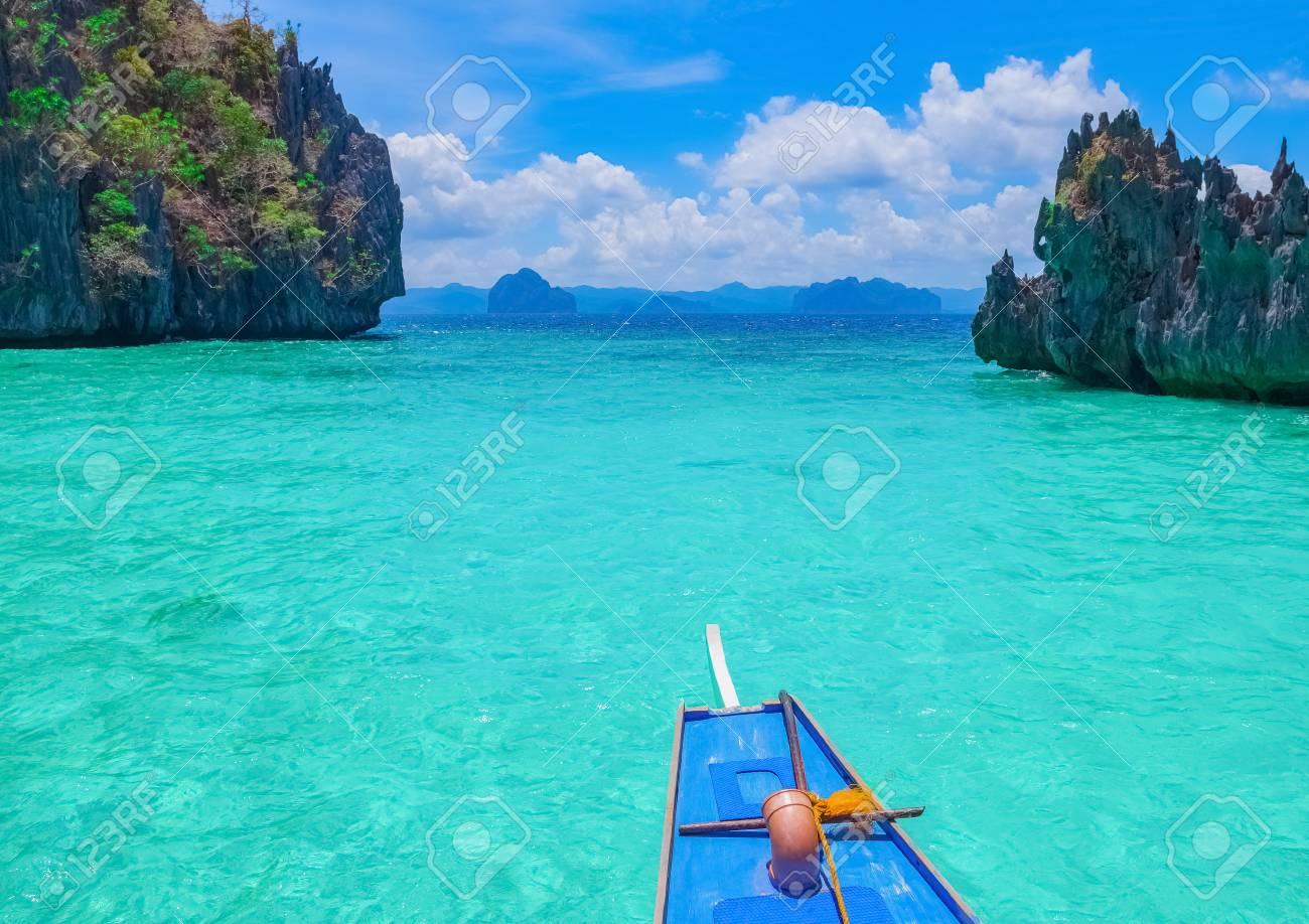 Boat Trip To Blue Lagoon El Nido Palawan Philippines