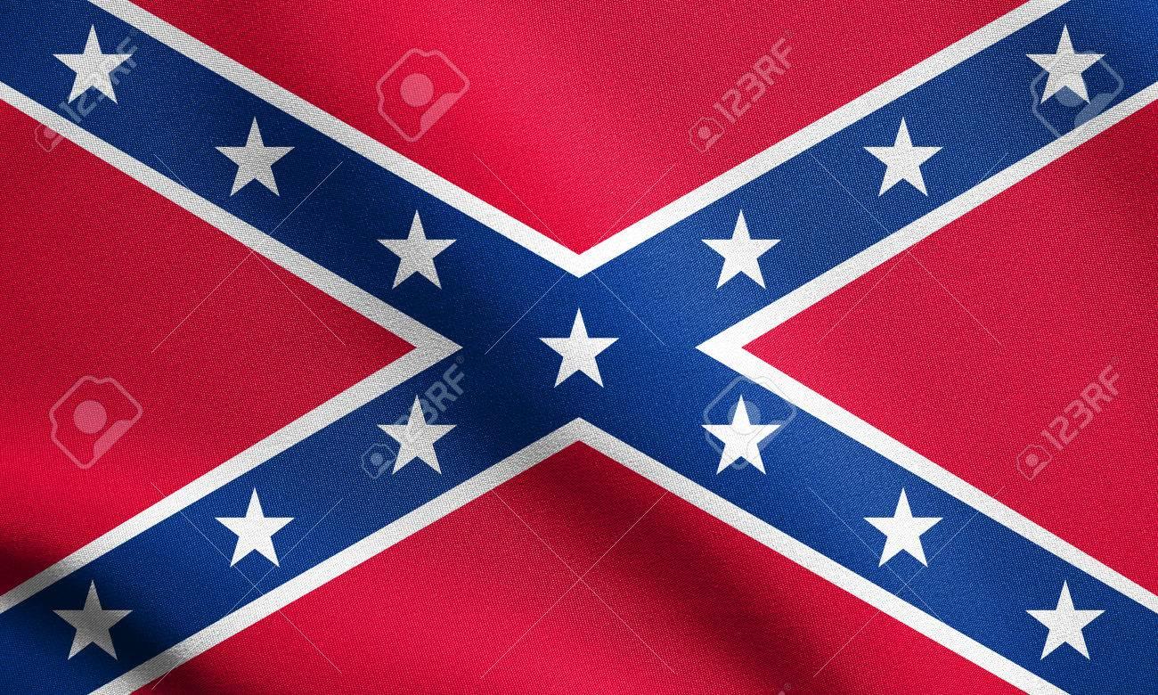 アメリカ連合国の国旗。南軍の戦...