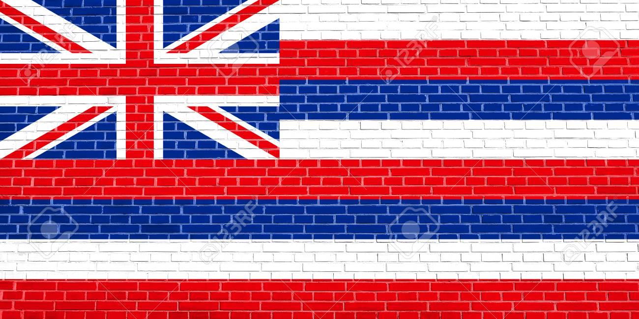 Bandera Oficial De Hawai, Símbolo. Elemento Patriótico ...