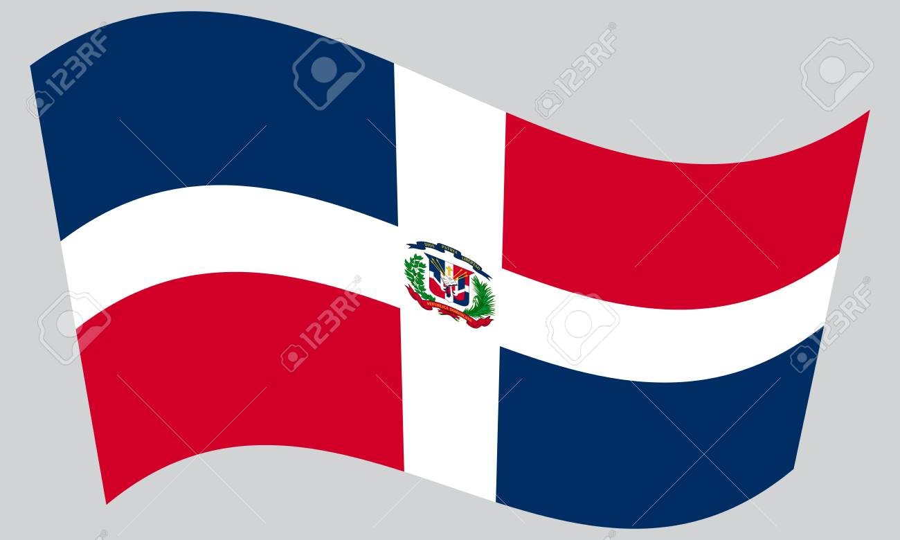 Dominican Republic National Official Flag Patriotic Symbol