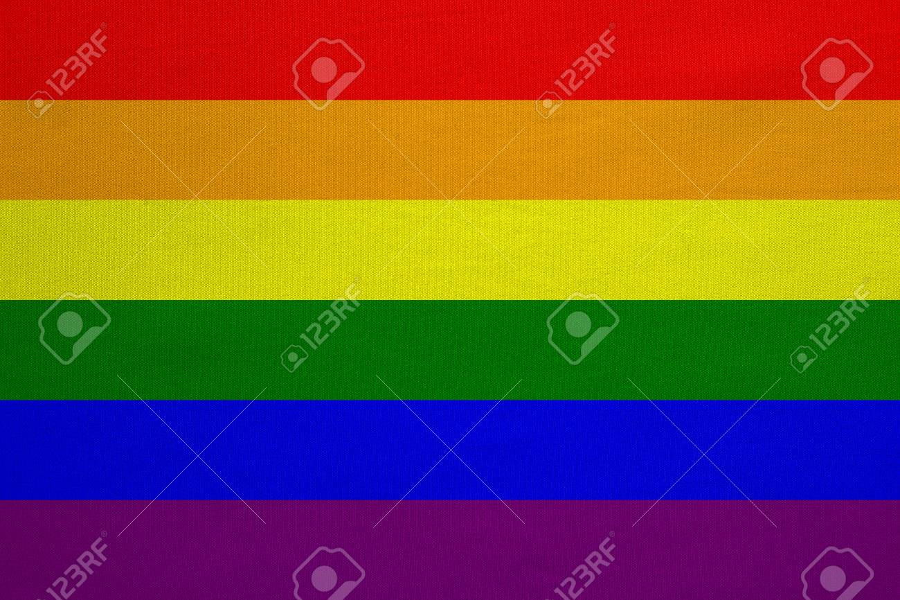 Rainbow Gay Pride Flag Symbol Of Lgbt Movement Gay Banner Stock