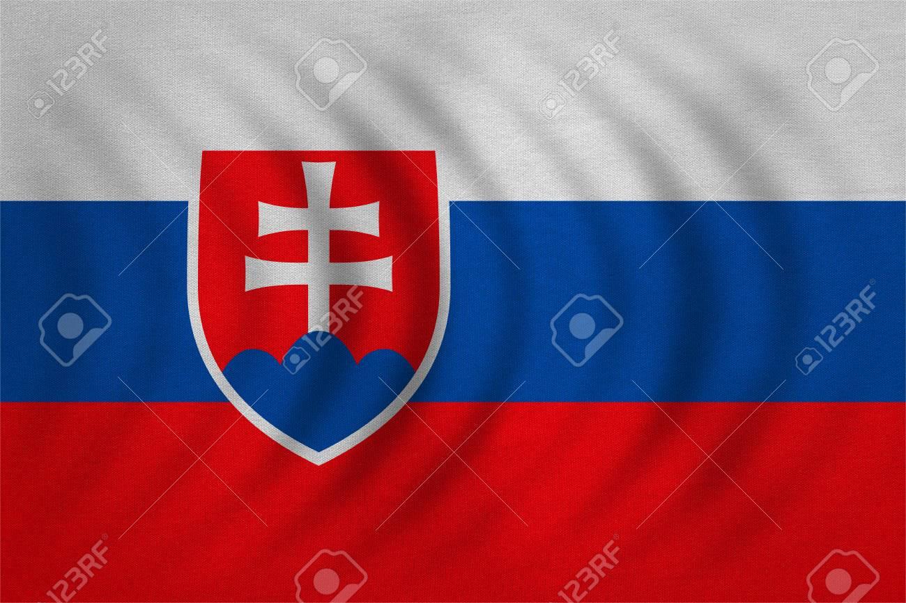 スロバキア語公式の国旗。愛国の...
