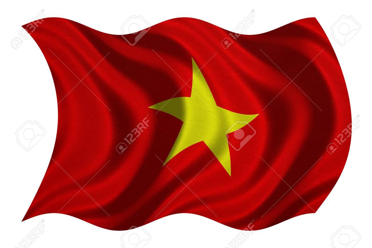 Bandera Oficial Nacional Vietnamita. Símbolo Patriótico ee7a0ba45c33f