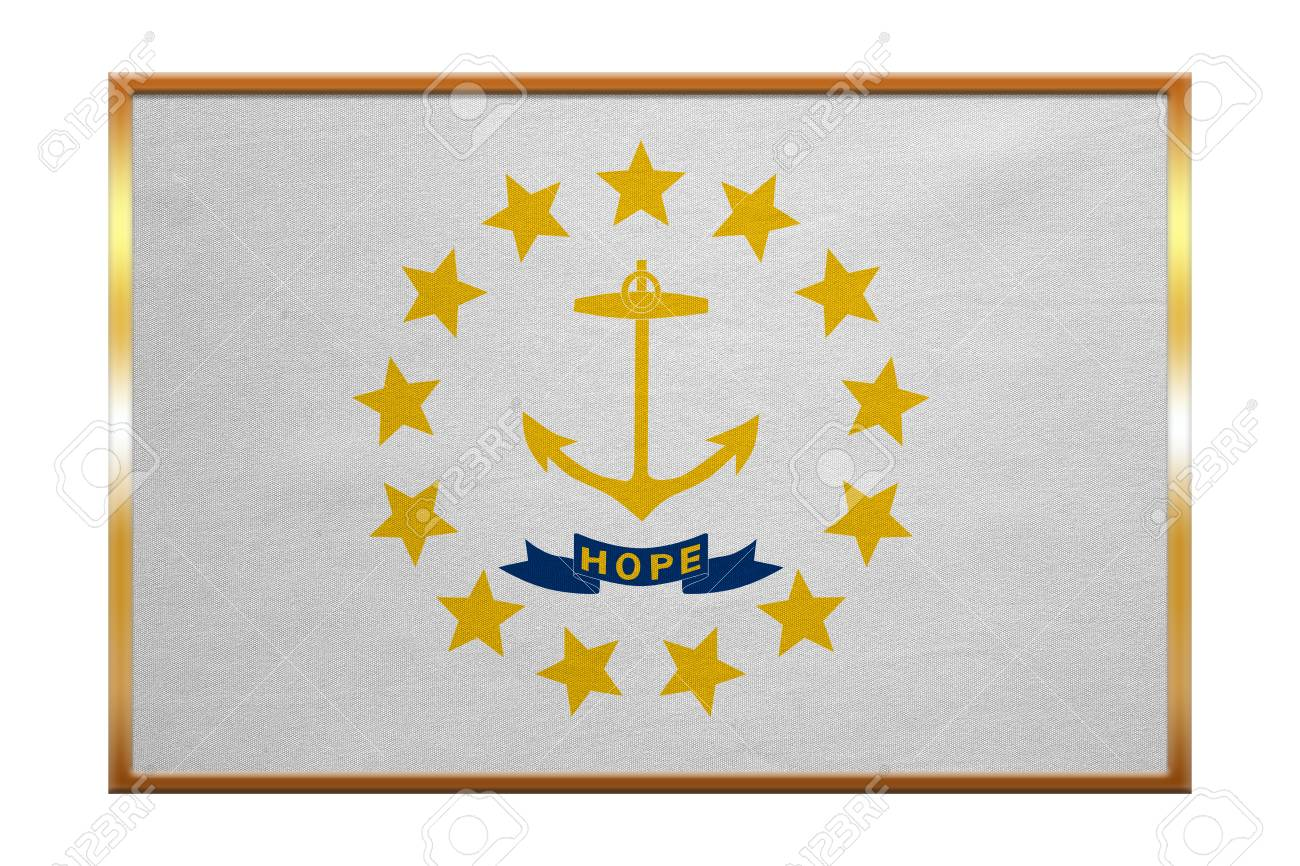Flag Of The Us State Of Rhode Island American Patriotic Element