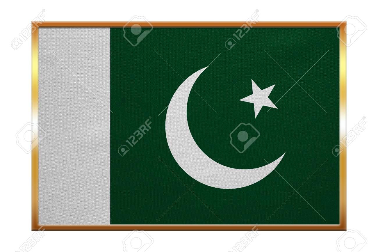 Pakistanischer Staatsangehöriger Offizielle Flagge. Patriotische ...